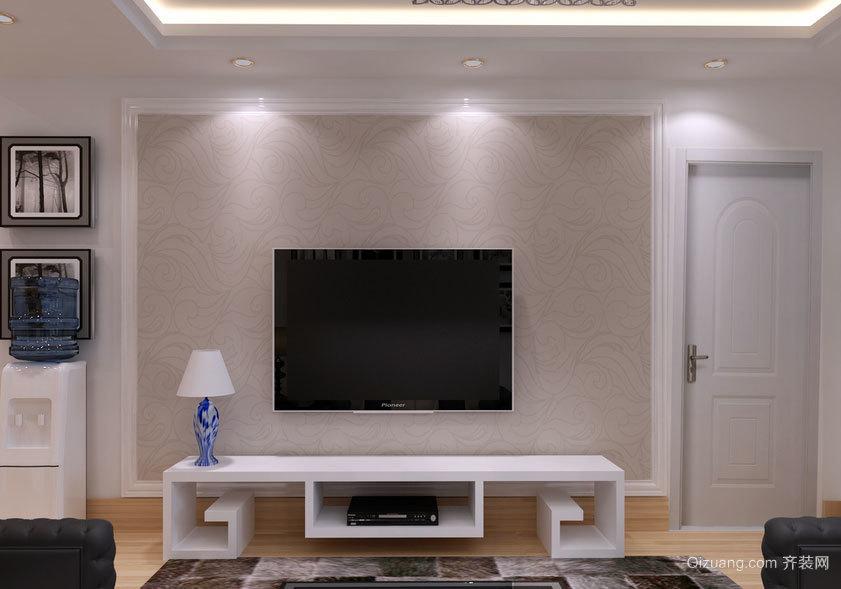 单身公寓独特的意境美的欧式电视背景墙装修效果图