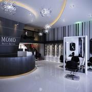 摩登俊秀的美发店
