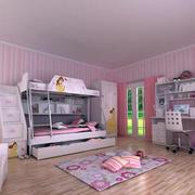 粉色可爱的儿童床