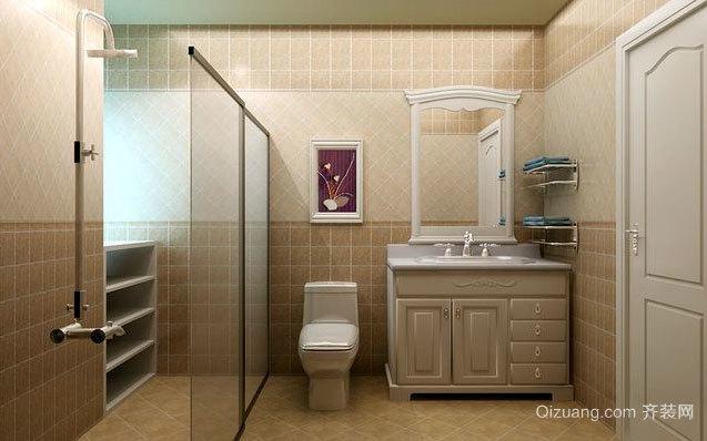 跃层简欧风格低调奢华的卫生间装修效果图