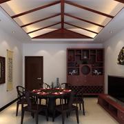 中式家装餐厅吊顶