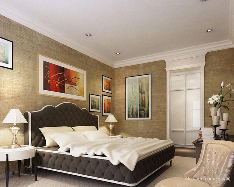 大户型精致混搭风格卧室背景墙装修效果图欣赏