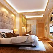 温馨暖色调卧室吊顶