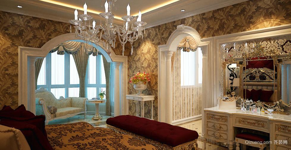 两室一厅欧式风格交换空间主卧装修效果图