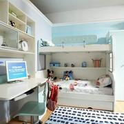 清新白色儿童床