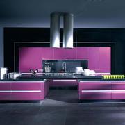 紫色浪漫的橱柜