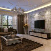 现代客厅瓷砖背景墙