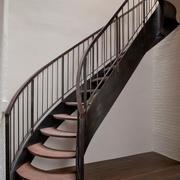 实木安全阁楼楼梯