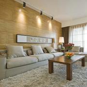 客厅沙发生态木背景