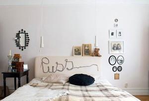 50平米韩式简约卧室背景墙装修效果图