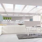 宽敞开放式厨房橱柜