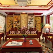 客厅中式沙发背景墙
