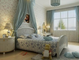 单身可爱女生小卧室装饰装修效果图