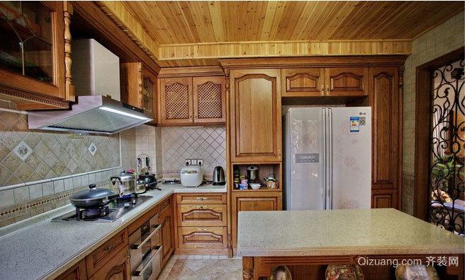自然飘逸的美式厨房装修效果图