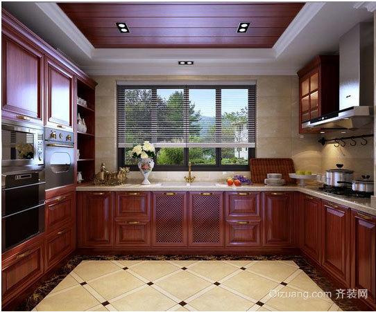 精美如画的中式厨房装修效果图