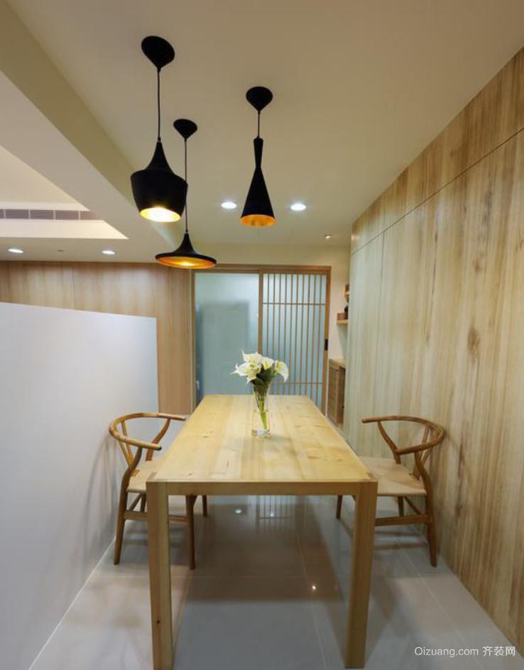 简约精致的现代风格餐厅背景墙装修效果图欣赏