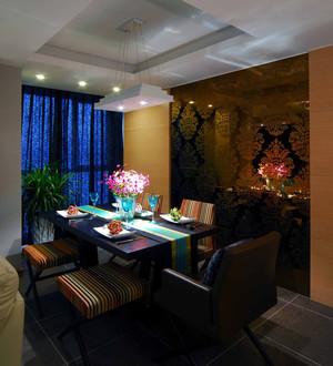 梵音缭绕东南亚风格餐厅背景墙装修效果图欣赏