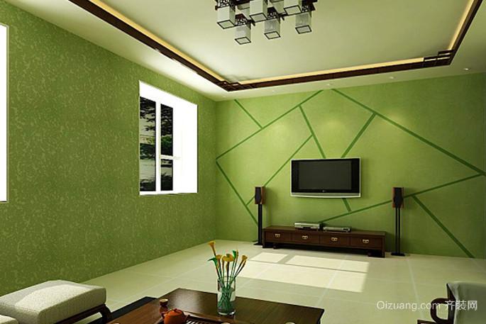 300平米别墅硅藻泥电视背景墙