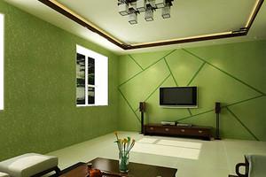家居客厅绿色硅藻泥背景