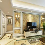 金色电视瓷砖背景