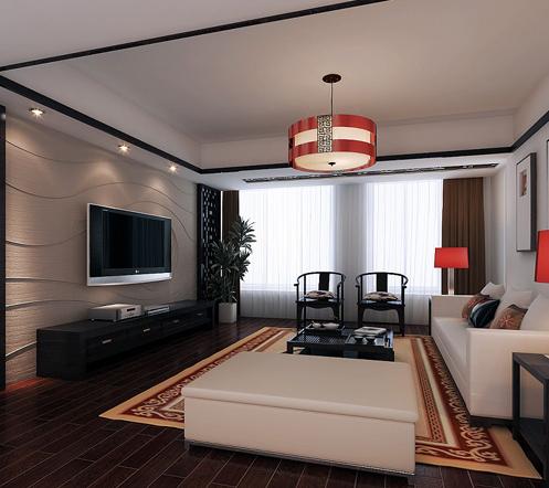 300平米 别墅硅藻泥 电视 背景墙 齐装网装修效果