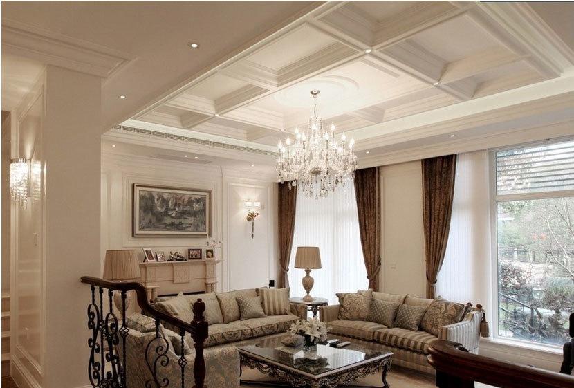 华贵欧式客厅吊顶装修效果图