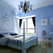 大户型卧室床幔