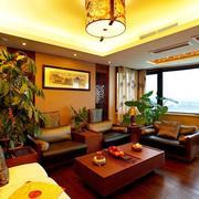 中式客厅地板