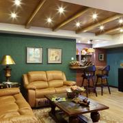 阁楼卧室生态木吊顶