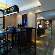 餐厅空间黑色餐桌椅
