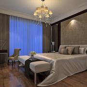 现代冷色系卧室