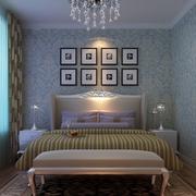 卧室天蓝色墙衣