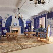 梦幻时尚的别墅客厅