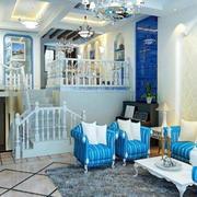 地中海风格别墅客厅