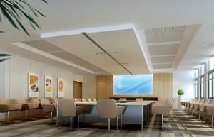 2015简约大方的大型会议室吊顶装修效果图