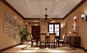 风格各异的混搭风格餐厅背景墙装修效果图欣赏