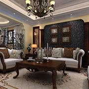 法式巧妙的客厅