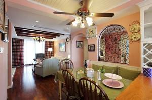 慵懒悠然的美式风格餐厅背景墙装修效果图欣赏