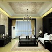 客厅黑色背景墙