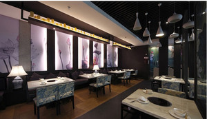 融合现代的新中式餐厅装修效果图