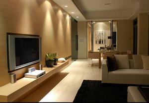 2015大户型简欧风格客厅射灯装修效果图