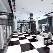 服装店黑白地板