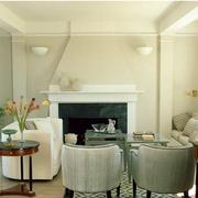 客厅素雅浅色系设计