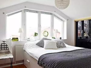 简约的北欧风格卧室背景墙装修效果图