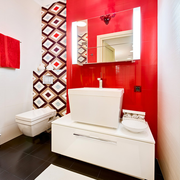卫生间红色靓丽装潢