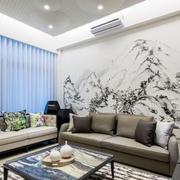 客厅沙发瓷砖艺术画