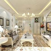 白色时尚家居客厅