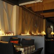 咖啡厅背景墙展示