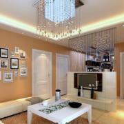 客厅照片墙展示