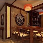 餐厅中式背景墙